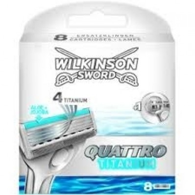 Wilkinson Sword Quattro Titanium 8 Scheermesjes