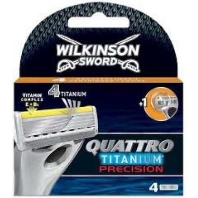 Wilkinson Sword Quattro Titanium Precision 4 Scheermesjes