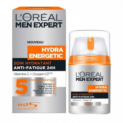 L'OREAL MEN EXPERT HYDRA ENERGETIC SOIN HYDRATANT ANTI FATIGUE 5 ACTIONS 24H 50ML