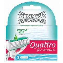 Wilkinson Quattro Women Sensitive Scheermesjes