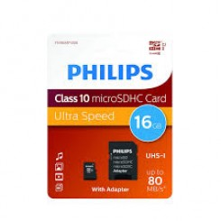 Philips Micro SDHC card incl. SD Adapter CLASS 10 - 16GB