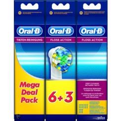 Oral-B Opzetborstel Floss Action Voordeelpak - 6 + 3 Stuks